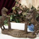 Cast Iron Horse Business Card Holder