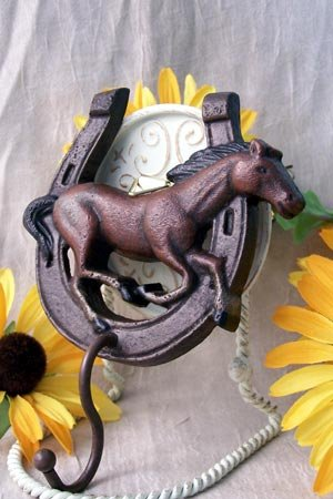 Horse and Horseshoe Hook