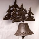 Cast Iron 3D Wall Mount Moose Bell