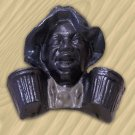 Black Man Match Holder Cast Iron