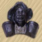 Black Man Match Holder Cast Iron