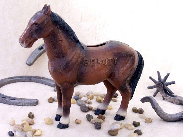 Cast Iron Horse Bank Beauty