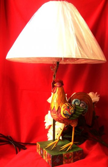 Jim Shore Colorful Rooster Lamp