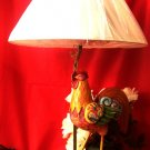 Jim Shore Colorful Rooster Lamp