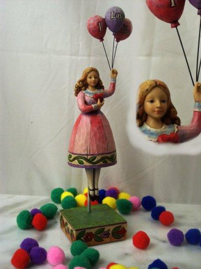 Jim Shore Girl with Balloons