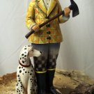 Jim Shore Fireman with Dalmatian Dog