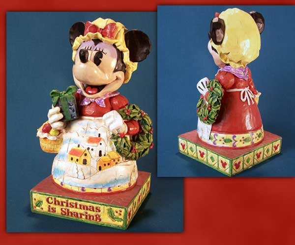 Jim Shore Disney Traditions Minnie Mouse with Wreath
