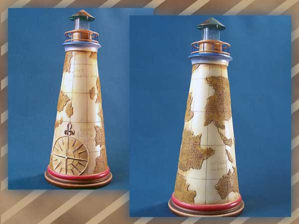 """Lighthouse """"Old Map"""" Jim Shore Collection"""