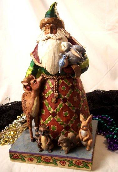 "Jim Shore Santa ""Woodland Animals"""