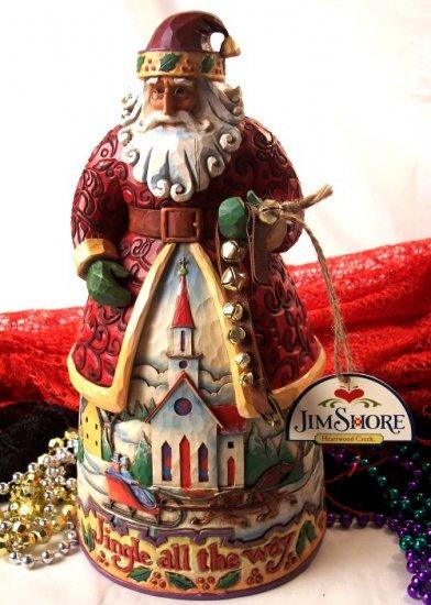 Jim Shore Santa Bells On Bobtail Ring