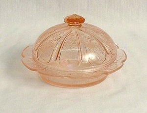 Pink Round Butter Dish