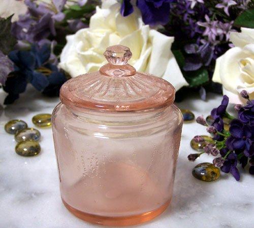 Vintage Style Pink Biscuit Jar