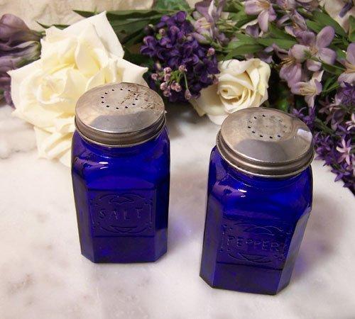 Square Colbolt Blue Salt and Pepper Shakers