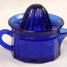 Colbolt Blue Glass Juicer