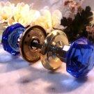 COBALT BLUE SOLID Crystal Door Knobs