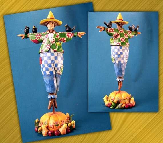 "Jim Shore Scarecrow ""Keeping Watch"""