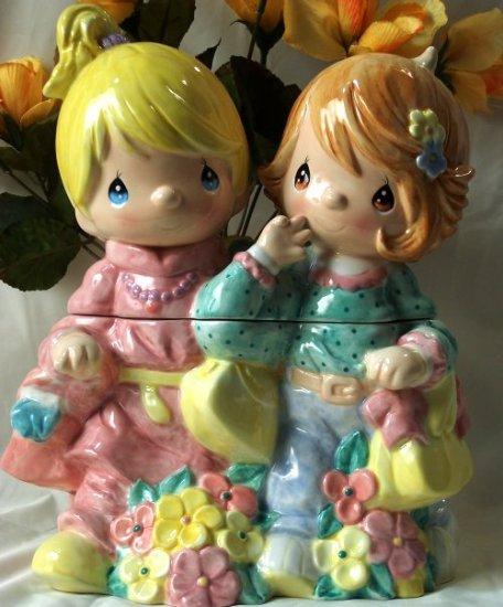 "Precious Moment Cookie Jar ""Girlfriends"""