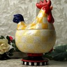 Rooster Checkered Cookie Jar