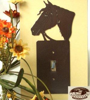 "Montana Silversmith Light switch Cover ""Horse head"""