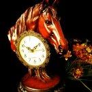 """Mahogany """"Horse Head Clock"""