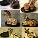 SET 4 Safari Wildlife Sat & Pepper Shakers