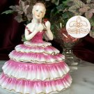 Powder Box Girl Pink Limoges China
