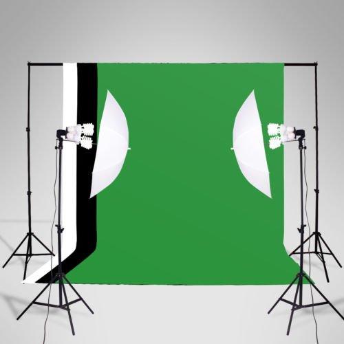 New Photography Studio Soft Box Lighting Light Stand Kit 3 Backdrops Photo Set