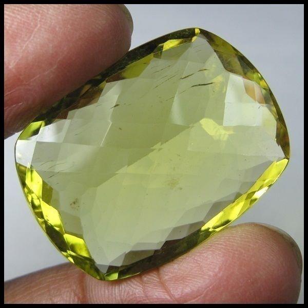 64.20 CARAT MOST BEAUTIFUL & SPARKLING GREEN GOLD QUARTZ GEMSTONE FOR PENDANT