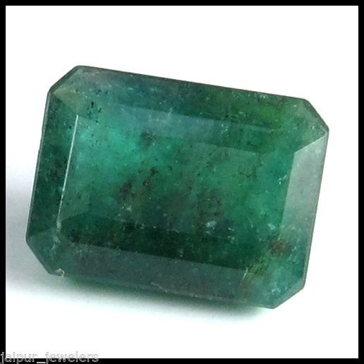 4.30 CARAT NATURAL & UNTREATED ZAMBIAN EMERALD GEMSTONE OCTAGON FACET CUT