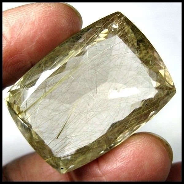 127.90 CARAT RARE & MOST BEAUTIFUL GOLDEN RUTILATED QUARTZ GEMSTONE FOR PENDANT