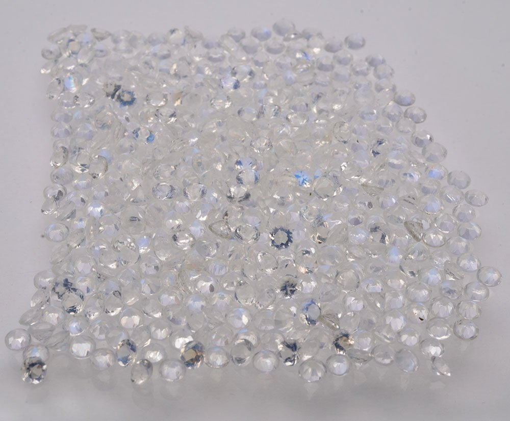 Certified Natural Zircon AAA Quality 1 mm faceted Round 50 pcs Lot