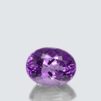 Certified  Natural Amethyst AA Quality 8x10 mm faceted Oval 1 pc