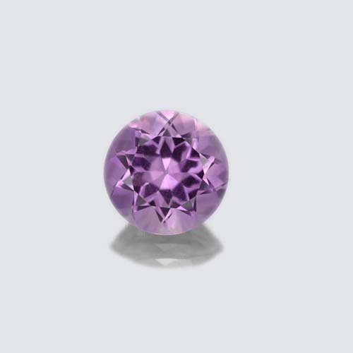 Certified Natural Amethyst AA Quality 10 mm faceted Round 1 pc