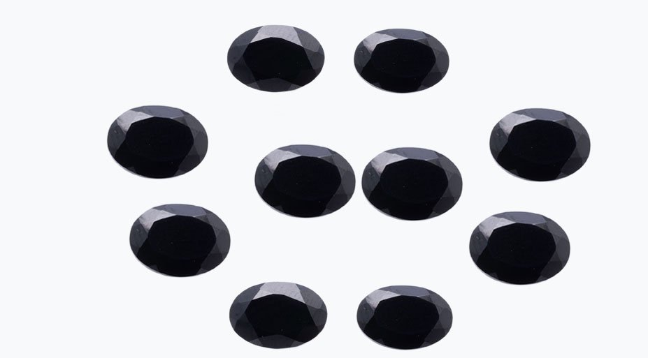 Certified Natural Black Spinel AAA Quality 6x4 mm faceted Oval 50 pcs lot