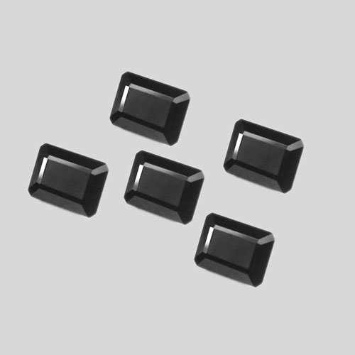 Certified Natural Black Spinel AAA Quality 7x5 mm faceted Octagon 5 pcs lot