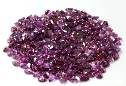 Certified Natural Rhodolite AAA Quality 5x4 mm Faceted pear 50 pcs lot