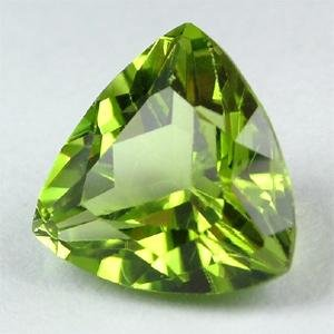Certified Natural Peridot AAA Quality 4.5 mm Faceted Trillion 2 pcs pair