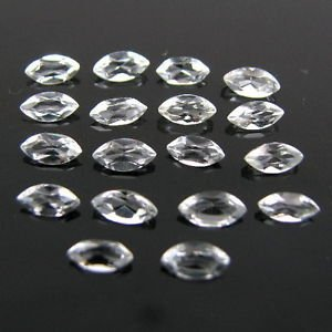 Certified Natural White Topaz AAA Quality 10x5 mm Faceted Marquise 10 pcs lot
