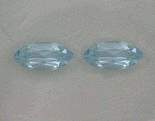 Certified Natural Sky Blue Topaz AAA Quality 10x5 mm Faceted Marquise 2 pcs pair