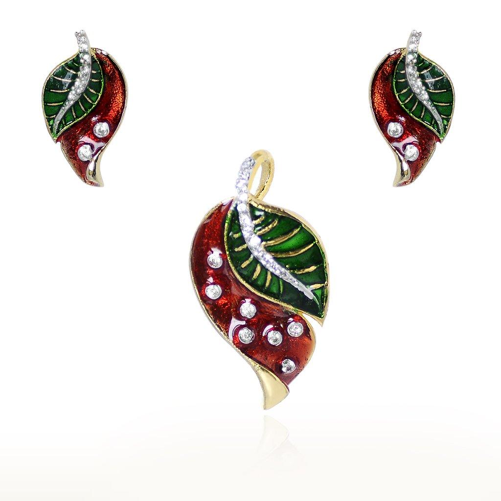 Flowers Designer Earring, Pendant set