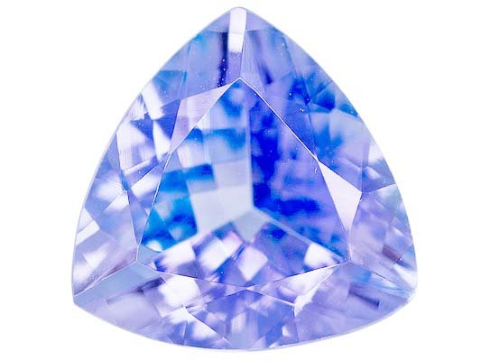 Certified Natural Tanzanite A Quality 5.5 mm Faceted Trillion 5 pcs lot loose gemstone