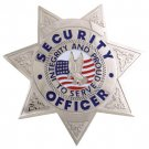 Security Badge 7pt Star Silver FCBA15