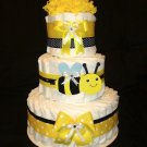 Bee Bee Diaper Cake Three Tier by Little KG's Dreams