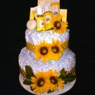KG's Dreams Gifts Burt's Bees Pink, Blue, Yellow & Green Diaper Cake Centerpiece