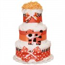 Tiger Three Tier Diaper Cake by Little KG's Dreams