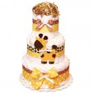 Giraffe Diaper Cake Three Tier
