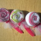 BABY WASHCLOTH LOLLIPOPS/ BABY SHOWER FAVOR/GIFT for Boys, Girls or unisex