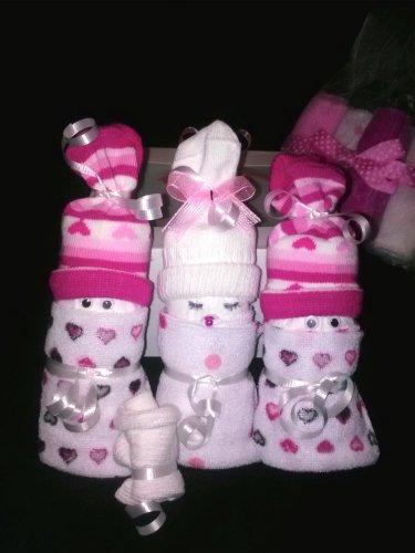 Mini Diaper Babies in Cupcake Box for Boys, Girls or Unisex