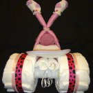 Baby Boy Girl Tricycle Diaper Cake Baby Shower Centerpiece by Little KG's Dreams