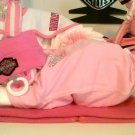 Pink Harley Davidson Baby Diaper Cake for Girl Baby Shower Centerpiece or Gift By Little Kg's Dreams